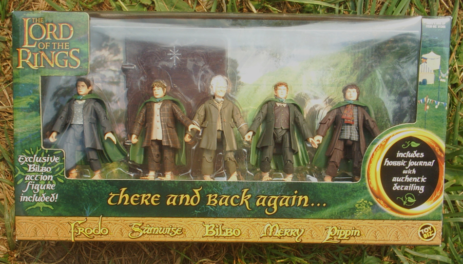 There and Back Again hobbit figure set