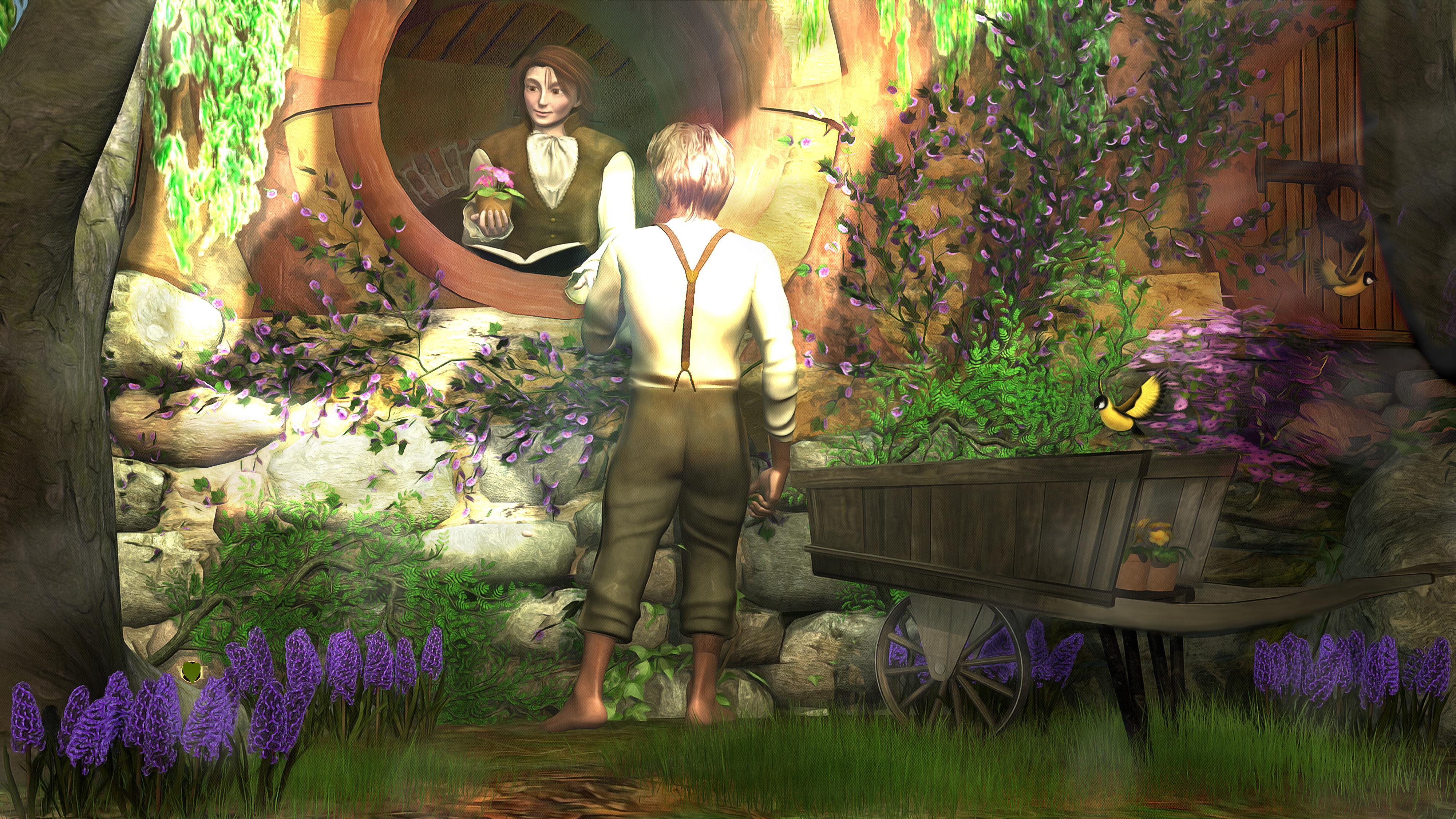 Sam offers Frodo a primrose